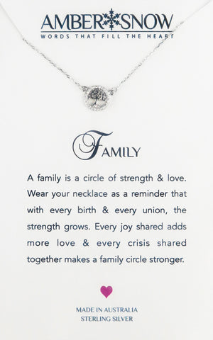 Sterling Silver Necklace - Family - Tree of life