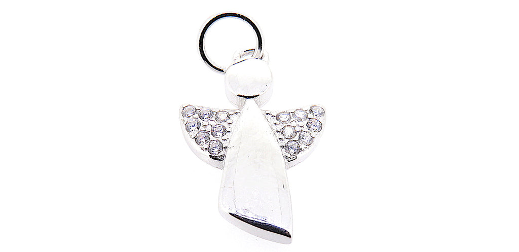 Guardian Angel Charm in Sterling Silver