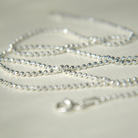 .925 Sterling Silver diamond cut ball chains