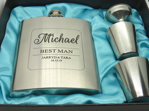 Hip flask - Best Man - FREE Engraving
