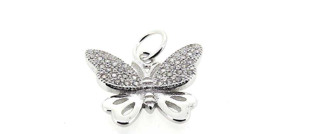 Butterfly Charm in Sterling Silver