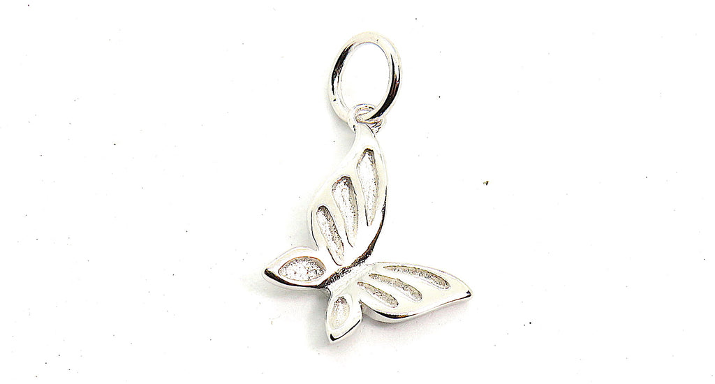 Butterfly Charm small in Sterling Silver
