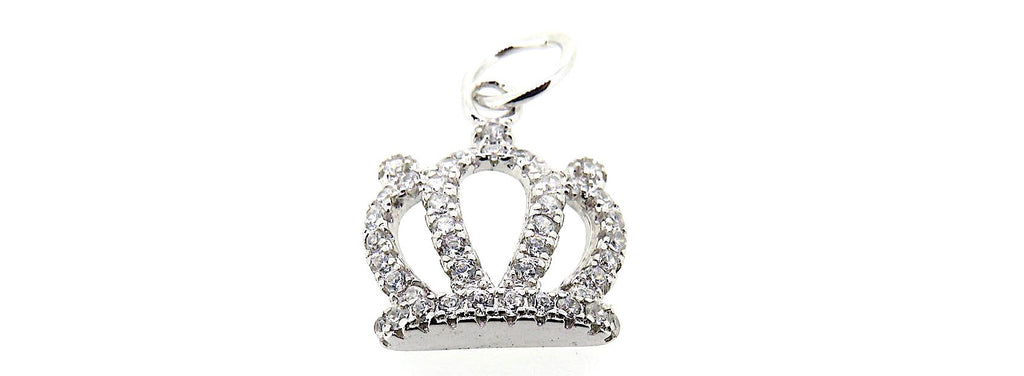 Crown Charm in Sterling Silver