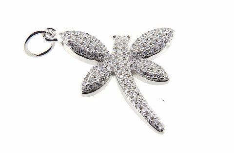 Dragonfly Charm in Sterling Silver