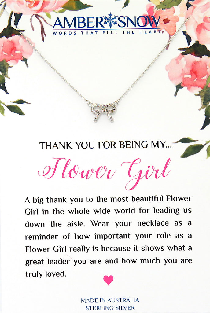 Thank you for being my Flower Girl - Bow Necklace