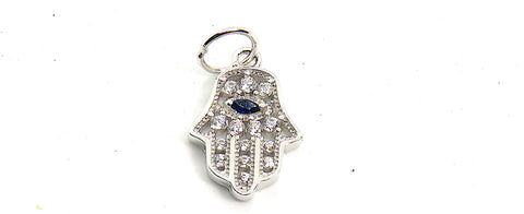 Hamsa Charm small in Sterling Silver