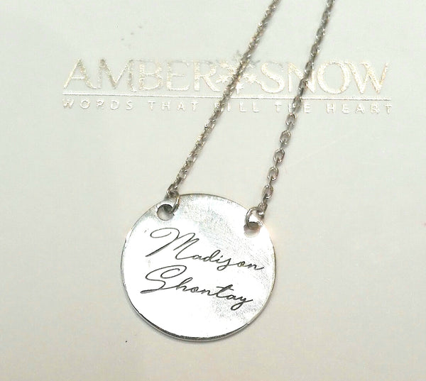 Initial Disc Necklace - FREE Engraving