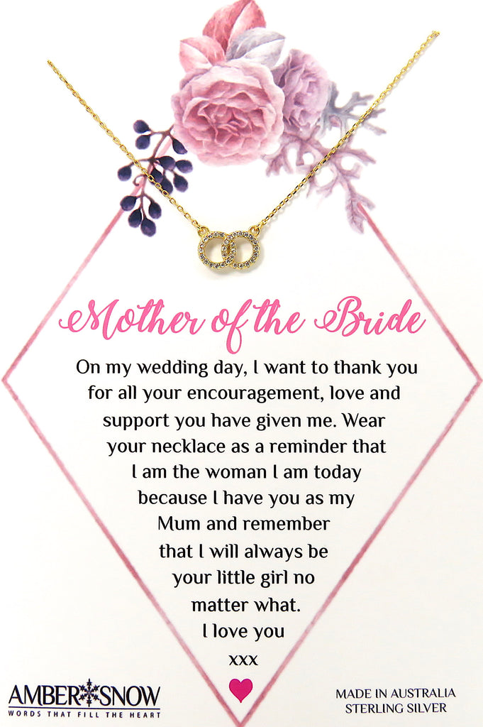 Mother of the Bride - Gold Love Links necklace