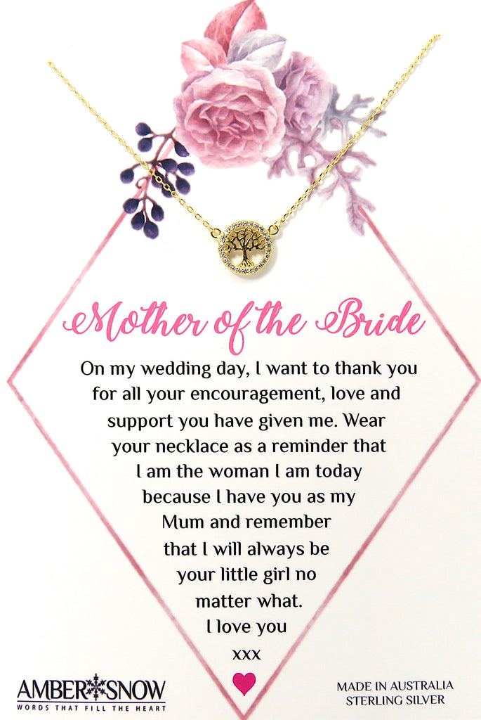 Mother of the Bride - Gold Tree of Life necklace