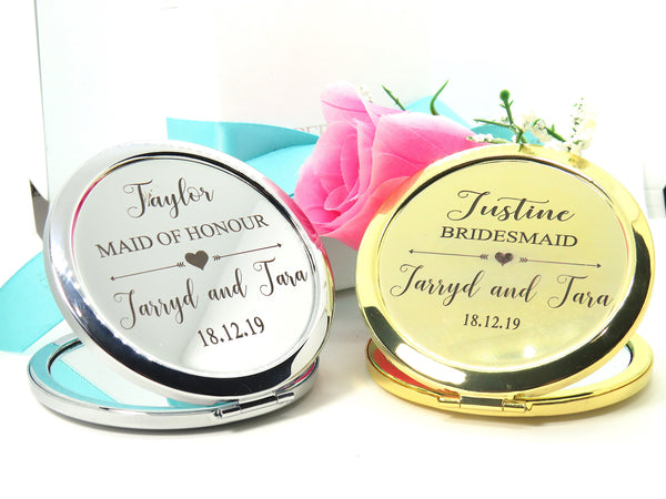 Bridal Party Compact Mirror - FREE Engraving