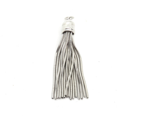 Tassel Charm in Sterling Silver