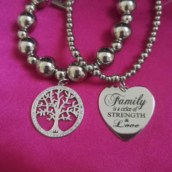 Large Tree of Life Charm in Sterling Silver