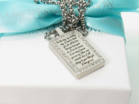 Wedding Diamonte pendant - FREE Engraving
