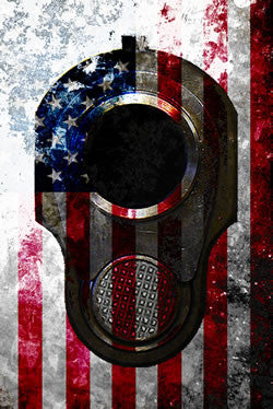 Art prints on metal - Metal American Flag