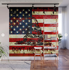 American Flag and Gadsden Flag Wall Mural - Dont Tread on Me