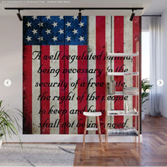 American Flag and 2nd Amendment Wall Mural