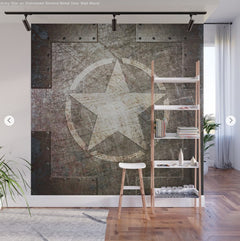 Patriotic Art Army Star Wall Mural