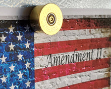Load image into Gallery viewer, 2nd Amendment Art Print and 12 gauge shotgun shell magnet close up
