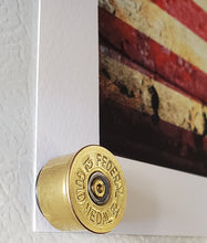 Load image into Gallery viewer, Art Print and 12 gauge shotgun shell magnet