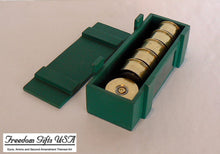 Load image into Gallery viewer, 12 Gauge Federal Gold Medal Magnets - Set of six inside wood box
