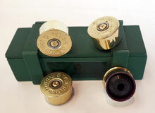 Load image into Gallery viewer, 12 gauge guitar knobs on ammo box - set of 4
