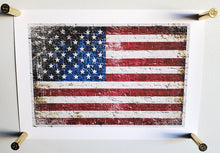 Load image into Gallery viewer, 45-70 Government Brass magnets holding American Flag