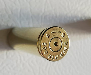 500 S&W Magnum Brass Magnet Close Up