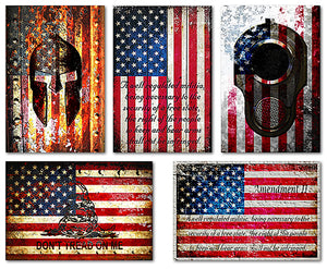 Five Pro 2nd Amendment Art Print Gift Set