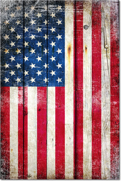 Patriotic Gifts - Distressed American Flag Vertical- Large Magnet