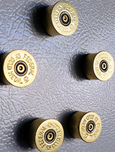 Load image into Gallery viewer, Set of five 12 gauge shotgun shell magnets