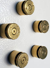 Load image into Gallery viewer, Set of five 50 caliber brass magnets