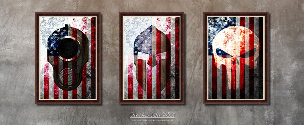 American Flag Prints on Canvas