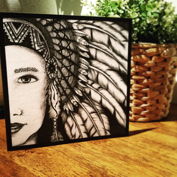 The Headdress - Greeting Card