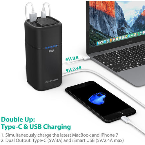 RAVPower 20,100mAh Universal Power Bank with AC Outlet