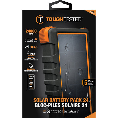 ToughTested 24,000mAh Bigfoot 3-Port Solar Power Bank Australia