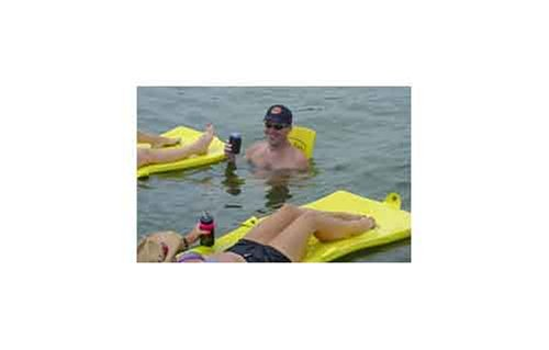 Gail Force Water Sports Extra Thick Saddle Float - Yellow