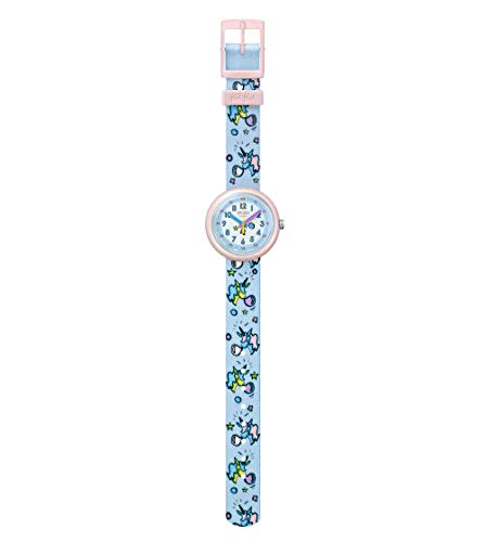 Australia Flik Flak Kids' Quartz Nylon Strap, Blue, 14 Casual Watch (Model: ZFPNP030)