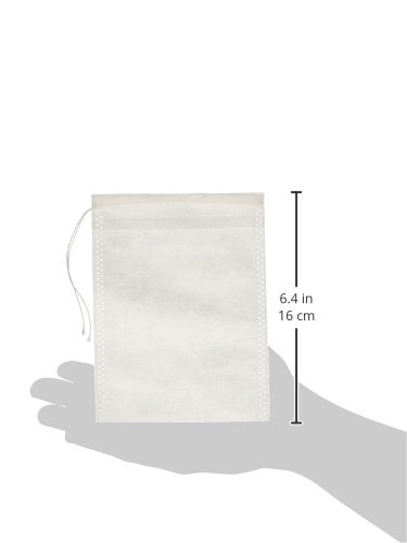 "Special Tea 150 Count Woven Style Draw String Bag, X-Large/4.72"" x 6.29""/120 x 160mm, White"