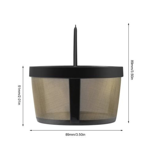 Australia GoldTone Reusable 4 Cup Basket Mr. Coffee Replacement Coffee Filter with Mesh Bottom - Mr. Coffee Permanent Coffee Filter for Mr. Coffee Maker and Brewer