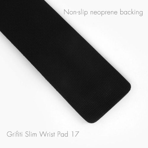 Australia Grifiti Slim Wrist Pad 17 is a 17 x 4 x 0.25 Inch Wrist Rest for 17 Inch Standard Slim Keyboards Black Nylon Washable Surface