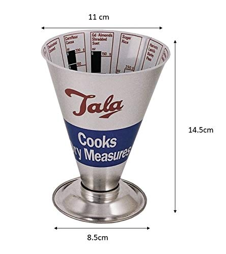 Australia Tala Cooks Measure Dry Ingredients, Silver/Red/Blue