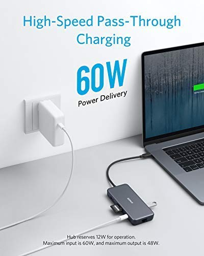 Anker USB C Hub, PowerExpand+ 7-in-1 USB C Adapter, with 4K HDMI, 60W Power  Delivery, 1Gbps Ethernet, 2 USB 3 0 Ports and SD/microSD Card Readers, for