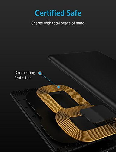 Anker Wireless Charger, Qi-Certified Wireless Charger Compatible iPhone XS Max/XR / XS/X / 8/8 Plus, Samsung Galaxy S9/S9+/S8/S8+/S7/Note 8, and More, PowerPort Wireless 5 Stand (No AC Adapter)