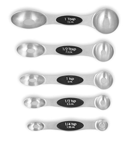 Australia Internet's Best 5 Count Magnetic Measuring Spoon Set, Stainless Steel