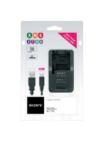 Sony BCTRX  Battery Charger for X/G/N/D/T/R and K Series Batteries (Black)