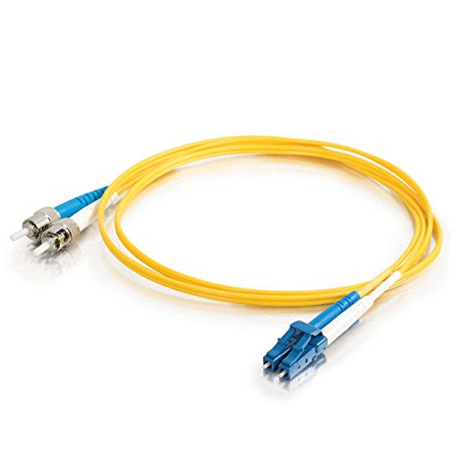 Australia C2G 37476 OS2 Fiber Optic Cable - LC-ST 9/125 Duplex Single-Mode PVC Fiber Cable, Yellow (9.8 Feet, 3 Meters)