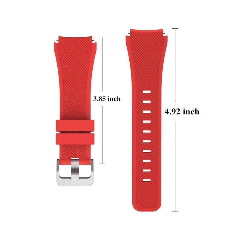 Leefrei Soft Silicone Sport Watch Band 22mm Replacement Strap Compatible with Samsung Galaxy Watch (46mm) Gear S3 Frontier/Classic Smart Watch (Pack of 10)