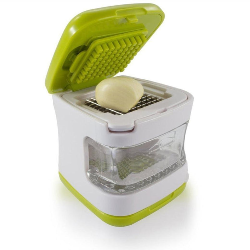 Kanzd Multifunction Stainless Steel Pressing Garlic Slicer Cutter Shredder Kitchen To (B)