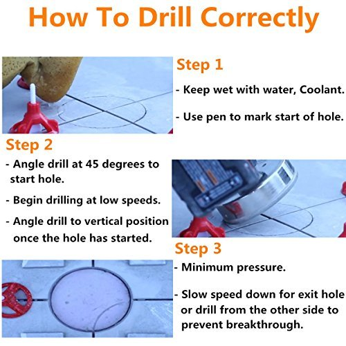 Australia Diamond Hole Saw, Drillpro 15 Pcs Tile Hole Saw Drill Bit, Hole Remover Tools for Glass, Porcelain, Ceramic, Granite Stone Drill Bits 6-50mm