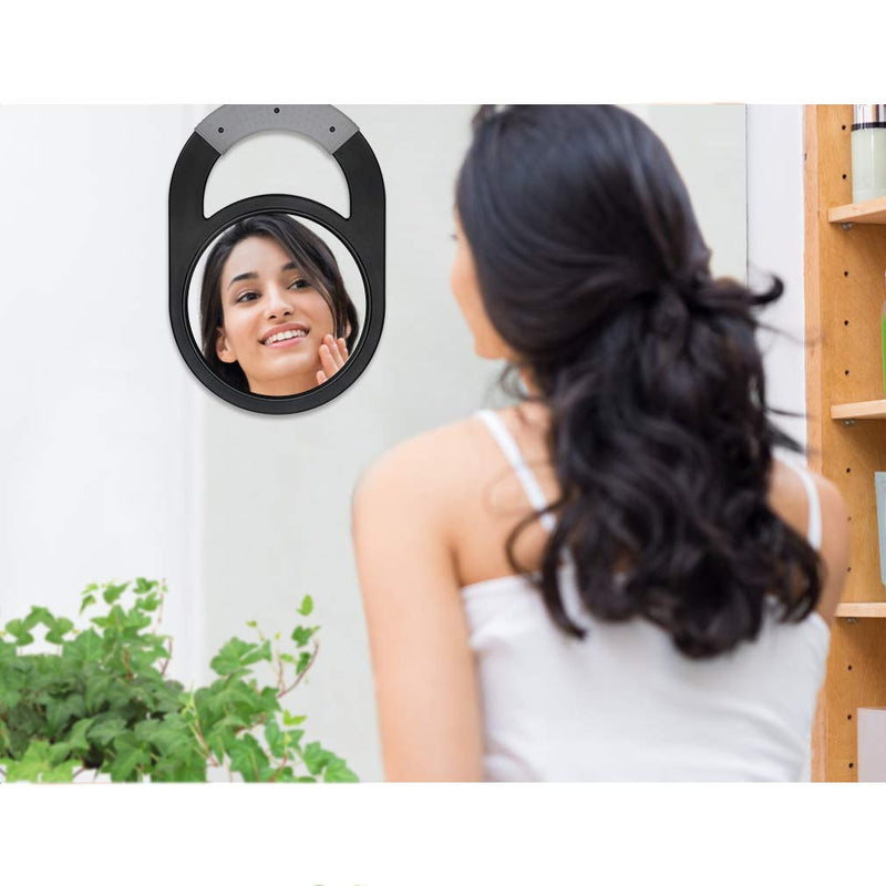 DEATTI Unbreakable Hand Mirror with Silicone Handle for Salon or Barber Shops